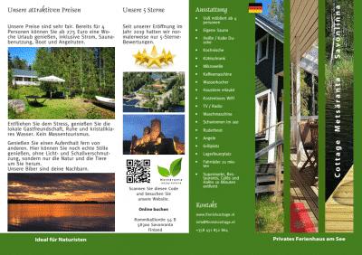 ferienhaus broschure