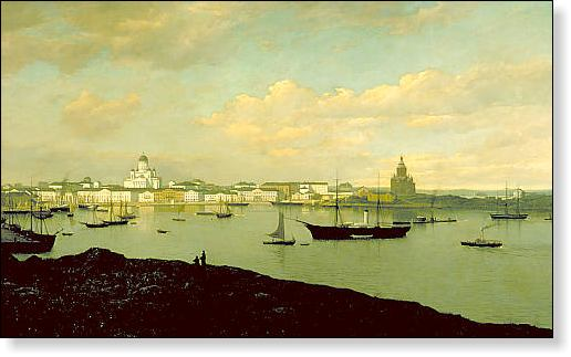 A view of Helsinki from the late 19th century, by Oscar Kleineh (1846–1919).