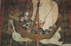 Eric IX of Sweden and Bishop Henry en route to Finland
