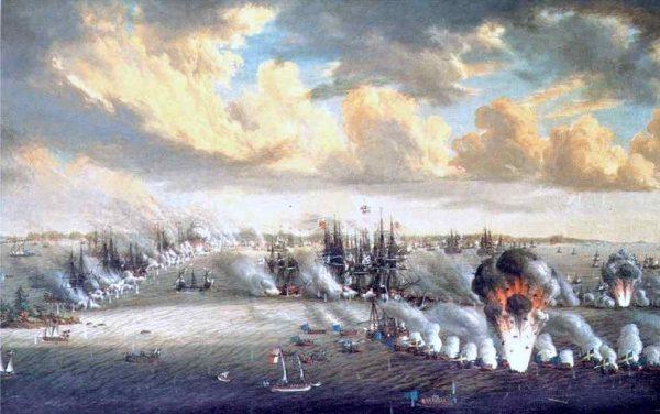 Russian vs. Swedish naval battle in Finnish waters Kotka