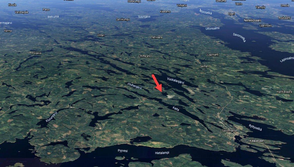 Savonranta metsäranta satelliet foto