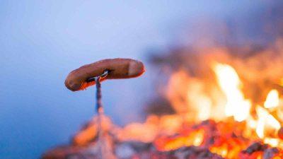 worstje boven het vuur